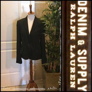 Ralph Lauren Denim & Supply Pinstriped Blazer Sz L
